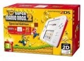 Nintendo 2DS White & Red + New Super Mario Bros 2