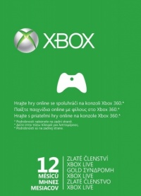 X360 Live 12 months Gold Cards Xbox360