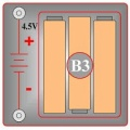 B3 (6SCB3) Držák na baterie (3x 1,5V AA)