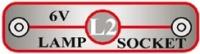 L2 (6SCL2) 6V objímka lampy pro žárovku 6,2V