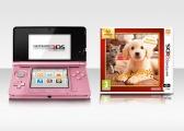 Nintendo 3DS Pink + Nintendogs+Cats-Golden Retr