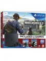 PS4 Playstation 4 1TB Slim+WatchDogs+Watch_dogs 2