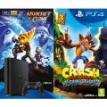 PS4 Konzole 500GB Slim + Crash + Ratchet