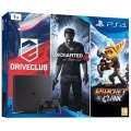 PS4 Konzole 1TB Slim FAMILY Pack (UC4,DC,R&C)