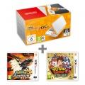 New N2DS XL White&Orange + Pokémon US + YW2