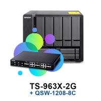 QNAP TS-963X-2G + QSW-1208-8C