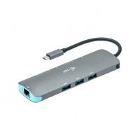 i-tec USB-C Metal Nano Dock 4K HDMI LAN + PD 100W