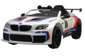 Elektrické auto BMW M6 GT3 bílé