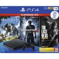 PS4 Konzole 1TB Slim HITS Pack (HZD,UC4,TLOU)