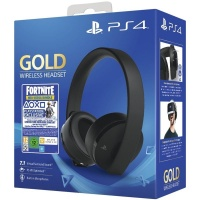 PS4 Gold Wireless Headset Black + Fortnite