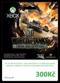 X360 Live Předplacená karta 300 Kč-World of Tanks