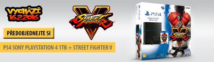 Street fighter + PS4 - předobjednejte si