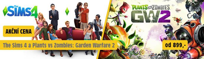 EA AKCE - The Sims 4 a Plant vs. Zombies: GW 2
