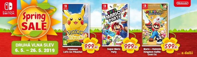 Nintendo Spring Sale 2019 druhá vlna